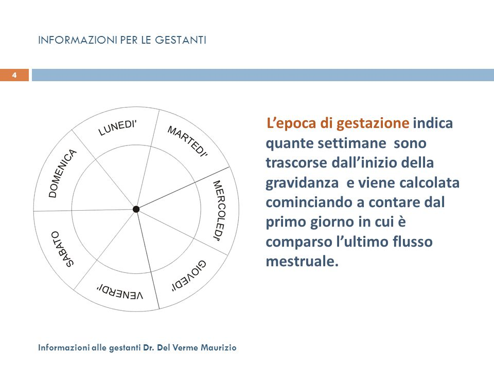 INFORMAZIONI PER LE GESTANTI SULL'ECOGRAFIA IN GRAVIDANZA 445 Informazioni alle gestanti Dr.