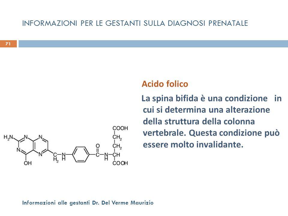 Acido folico La spina bifida è una condizione in cui si determina una alterazione della struttura della colonna vertebrale. Questa condizione può esse