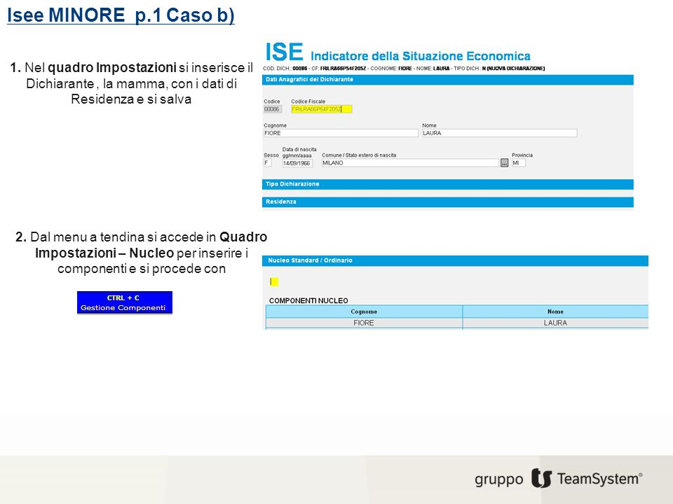 Isee MINORE p.2 Caso b) 3.