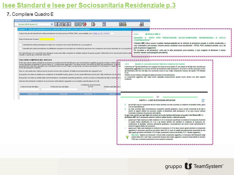 7. Compilare Quadro E Isee Standard e Isee per Sociosanitaria Residenziale p.3
