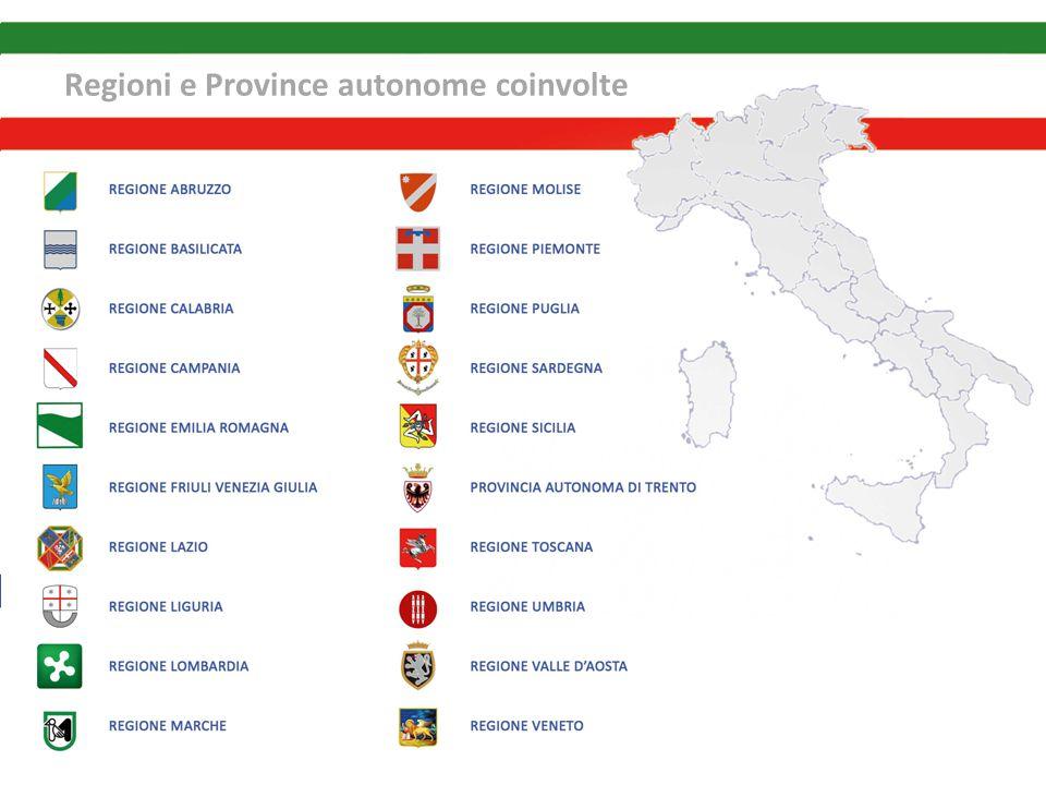 Regioni e Province autonome coinvolte