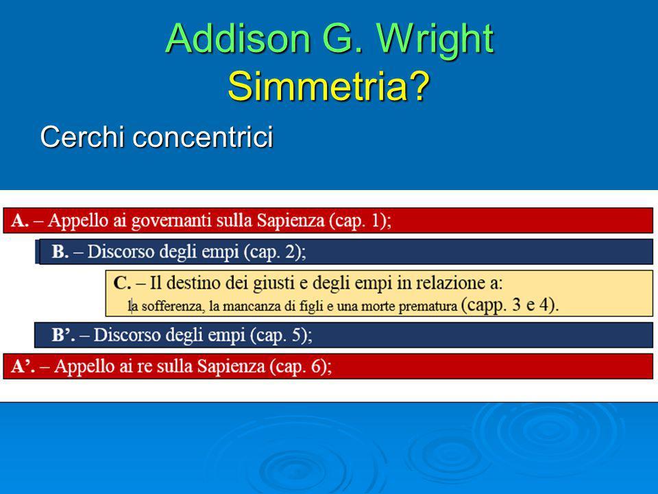 Addison G. Wright Simmetria? Cerchi concentrici
