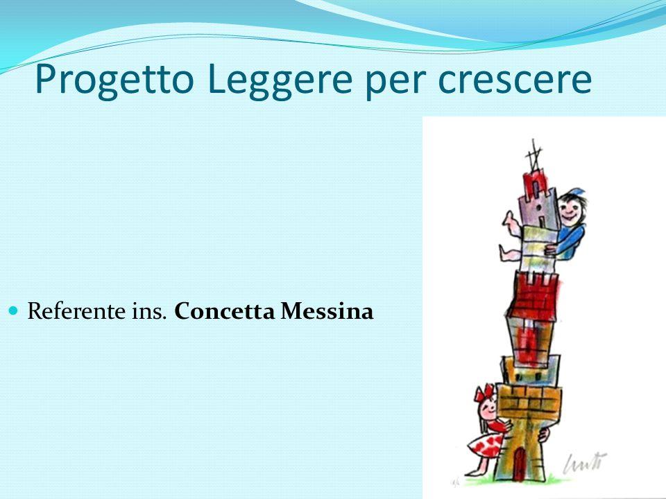 Progetto Leggere per crescere Referente ins. Concetta Messina