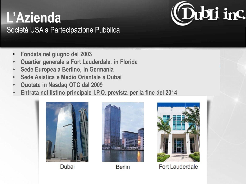 Fondata nel giugno del 2003 Quartier generale a Fort Lauderdale, in Florida Sede Europea a Berlino, in Germania Sede Asiatica e Medio Orientale a Duba