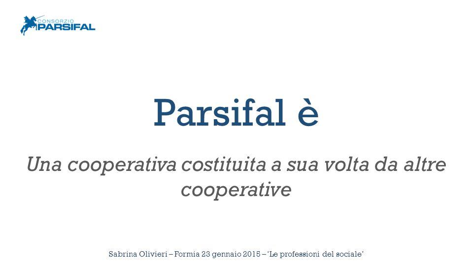 Parsifal è Una cooperativa costituita a sua volta da altre cooperative Sabrina Olivieri – Formia 23 gennaio 2015 – 'Le professioni del sociale'