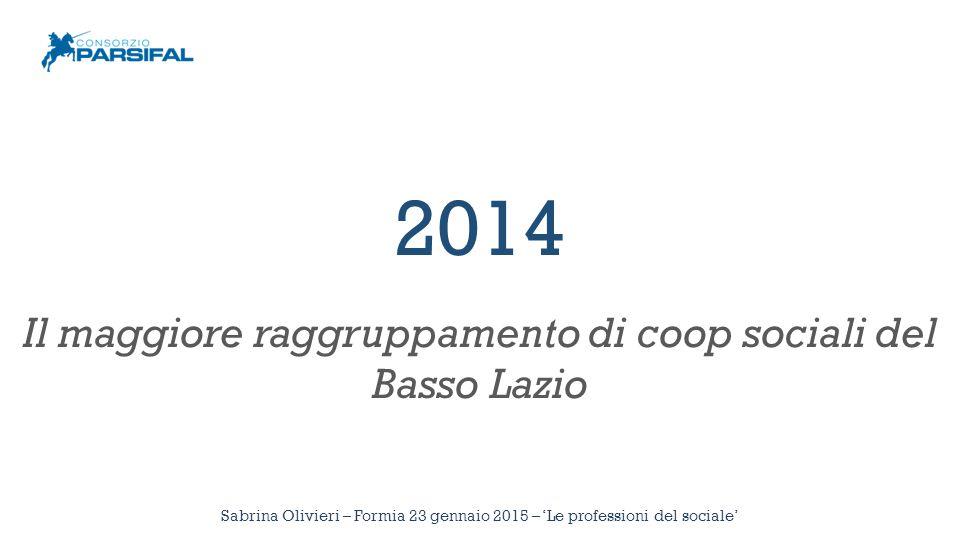 Diamo i numeri 22 cooperative Sabrina Olivieri – Formia 23 gennaio 2015 – 'Le professioni del sociale'