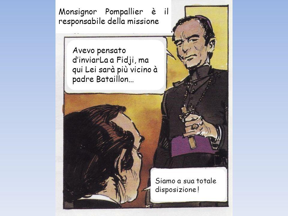 Monsignore, chieda al re Niuliki di accoglierli come ospiti. Tom farà da interprete.
