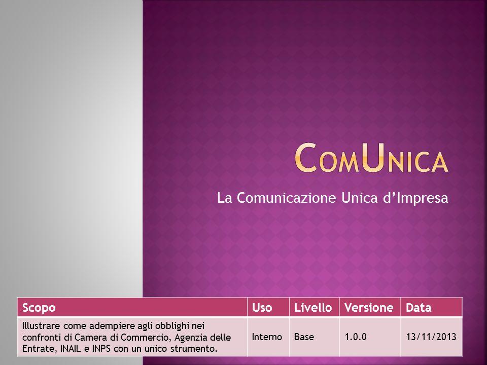 2 Sanctus Victor CIR&TTO 13/11/2013 1 aprile 2010 la Comunicazione Unica  Dal 1 aprile 2010 la Comunicazione Unica ha semplificato il rapporto tra le imprese e la Pubblica amministrazione.