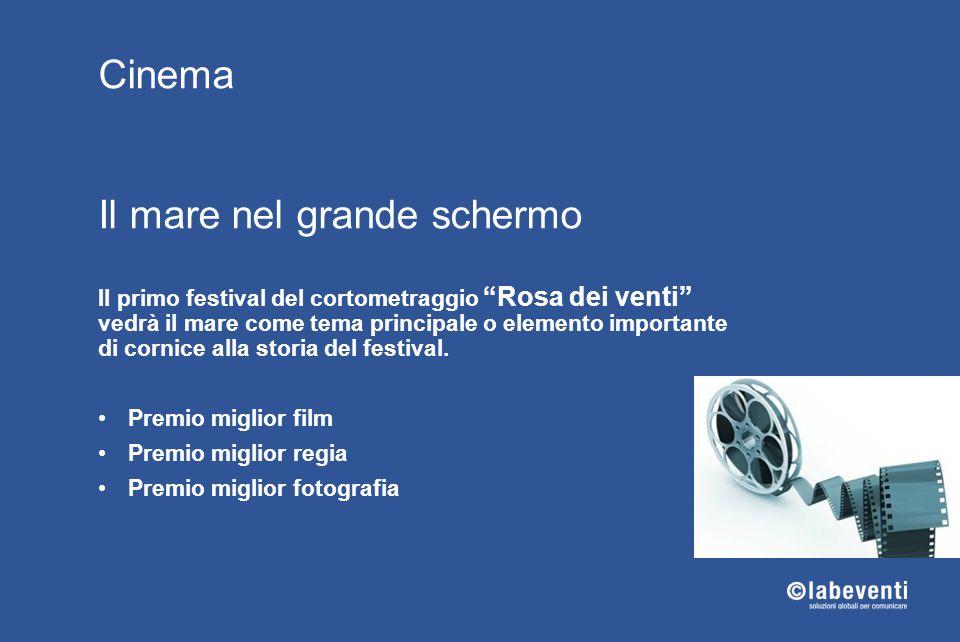 """Cinema Il mare nel grande schermo Il primo festival del cortometraggio """"Rosa dei venti"""" vedrà il mare come tema principale o elemento importante di co"""