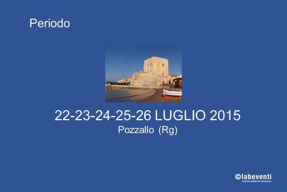 22-23-24-25-26 LUGLIO 2015 Pozzallo (Rg) Periodo