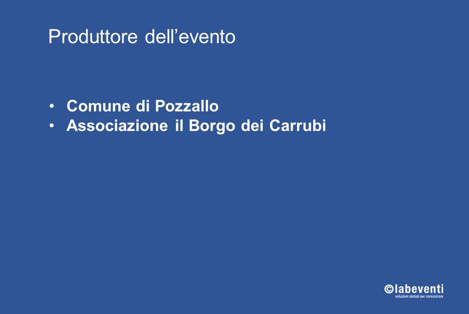 Comune di Pozzallo Associazione il Borgo dei Carrubi Produttore dell'evento