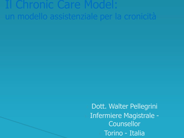 Le risorse della comunità Le organizzazioni sanitarie Il supporto all'auto-cura L'organizzazione del team Il supporto alle decisioni I sistemi informativi Chronic Care Model I SEI ELEMENTI FONDAMENTALI nella PRATICA del CHRONIC CARE MODEL