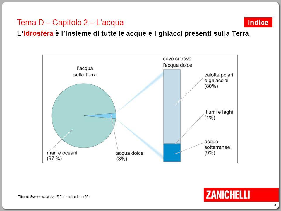 4 Tibone, Facciamo scienze © Zanichelli editore 2011 Tema D – Capitolo 2 – L'acqua Il ghiaccio galleggia sull'acqua: perché.