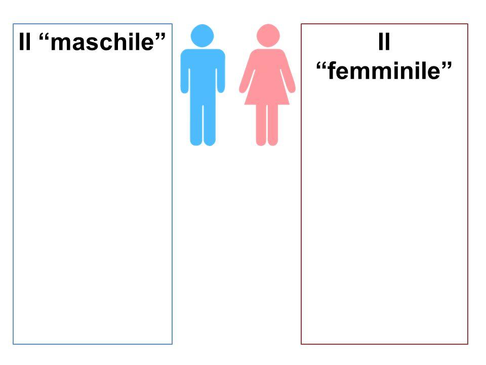 """Il """"maschile""""Il """"femminile"""""""