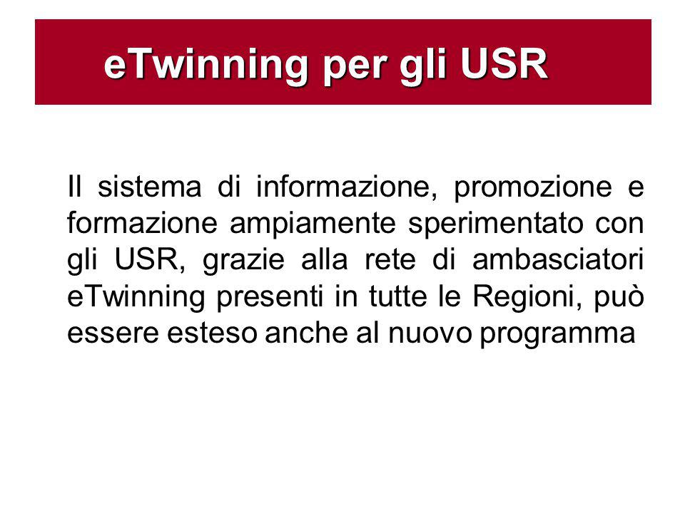 Il sistema di informazione, promozione e formazione ampiamente sperimentato con gli USR, grazie alla rete di ambasciatori eTwinning presenti in tutte