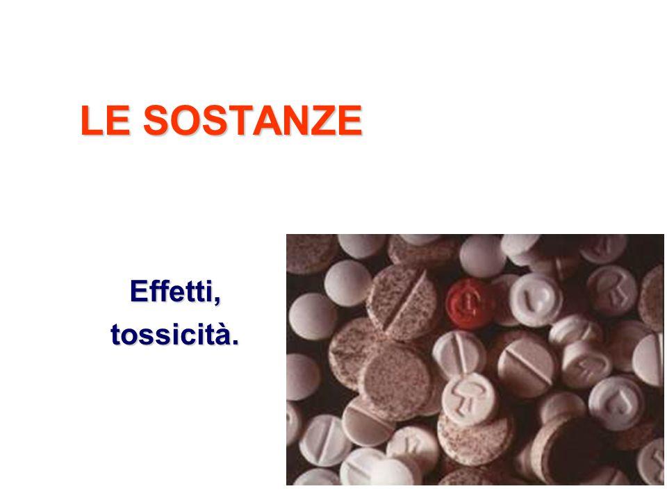 22 LE SOSTANZE Effetti,tossicità.