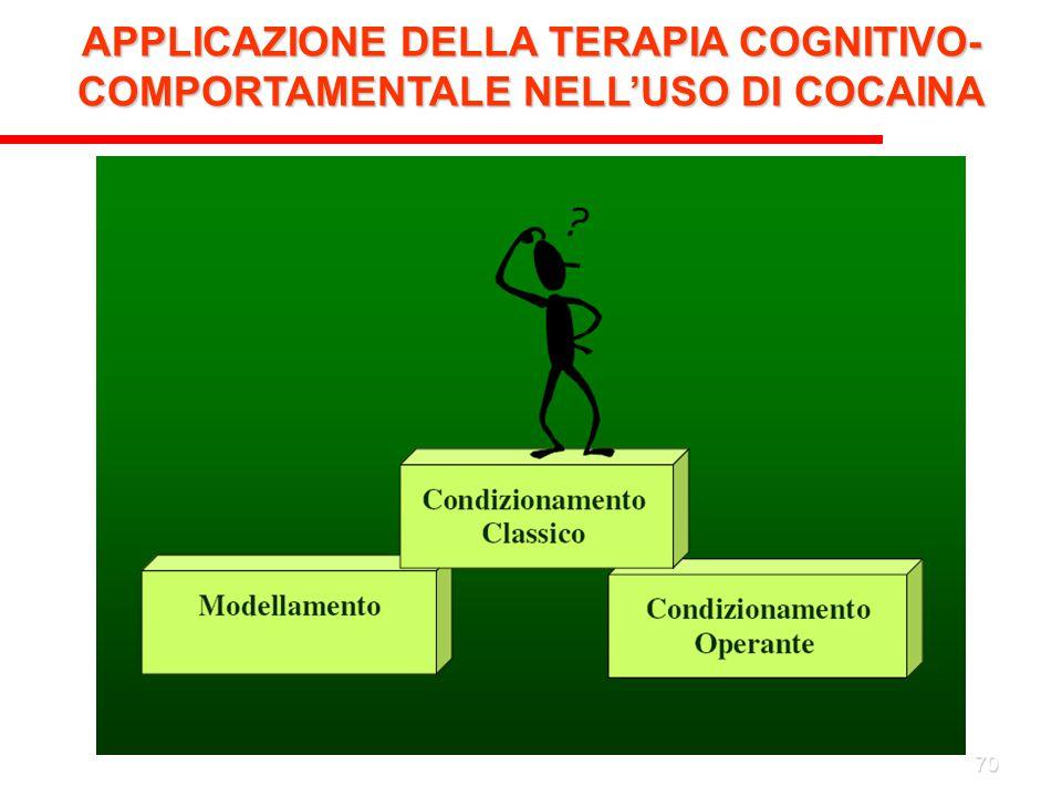 70 APPLICAZIONE DELLA TERAPIA COGNITIVO- COMPORTAMENTALE NELL'USO DI COCAINA