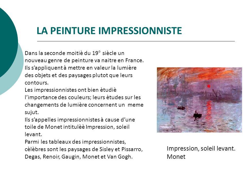 Dans la seconde moitiè du 19° siècle un nouveau genre de peinture va naitre en France.