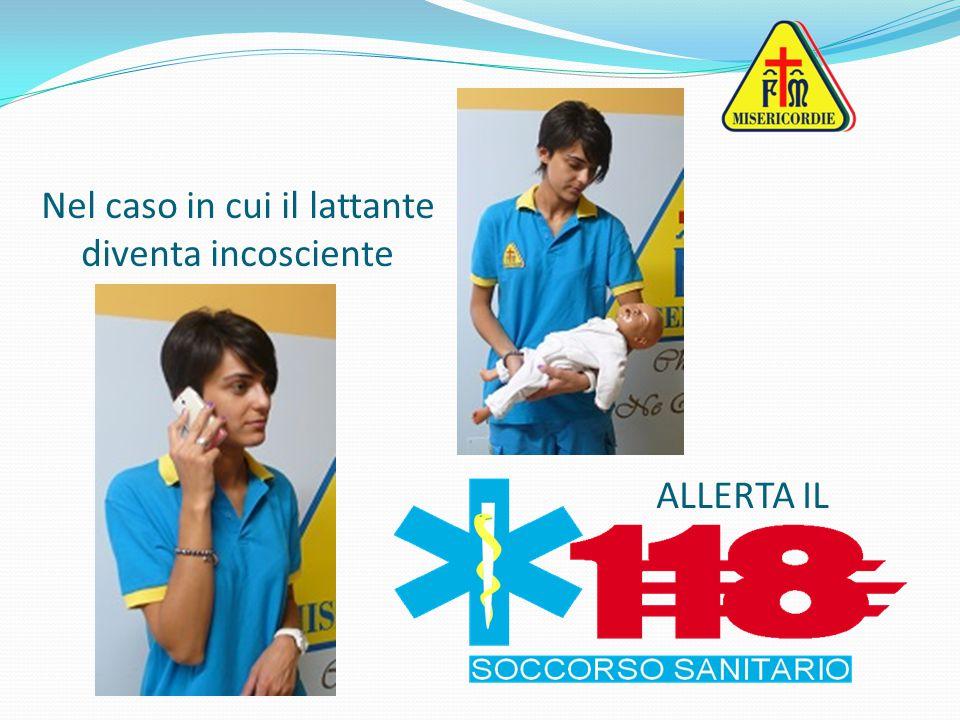 Alternare le 5 pacche a 5 compressioni sub diaframmatiche fino alla disostruzione o a quando il bambino diventa incosciente OSTRUZIONE COMPLETA DELLE VIE AEREE BAMBINO COSCIENTE