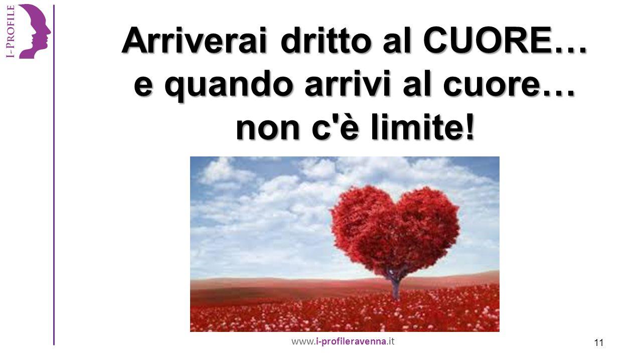 www.i-profileravenna.it Arriverai dritto al CUORE… e quando arrivi al cuore… non c è limite! 11