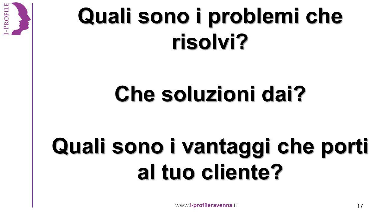 www.i-profileravenna.it Quali sono i problemi che risolvi.