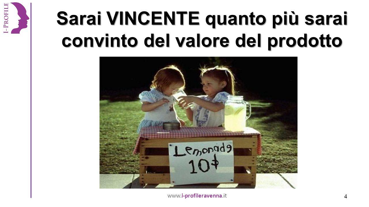www.i-profileravenna.it Sarai VINCENTE quanto più sarai convinto del valore del prodotto 4