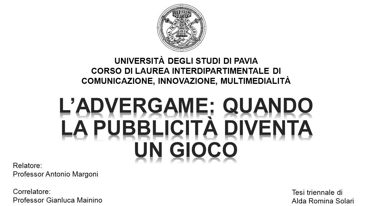 L'advergame: quando la pubblicità diventa un gioco Cos'è l'advergame? ADV on-line Videogiochi