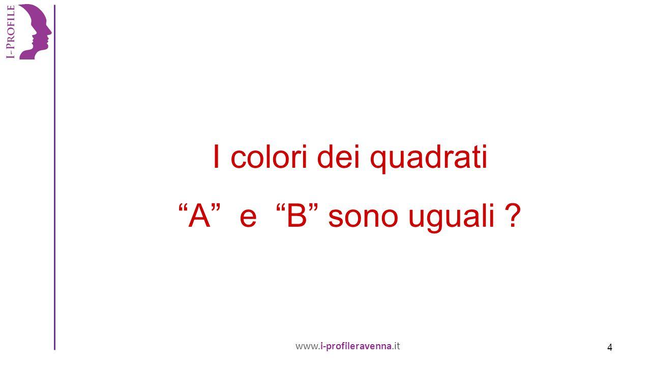 www.i-profileravenna.it I colori dei quadrati A e B sono uguali 4