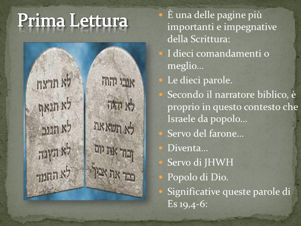 È una delle pagine più importanti e impegnative della Scrittura: I dieci comandamenti o meglio… Le dieci parole. Secondo il narratore biblico, è propr
