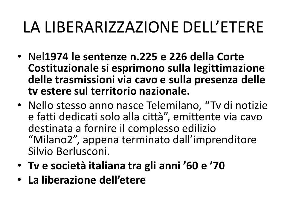 RADIO E SOCIETA' ITALIANA NEGLI ANNI '60 E '70 La radio propone le proposte più innovative sia sul piano musicale,sia nella scelta del target di riferimento:i giovani.