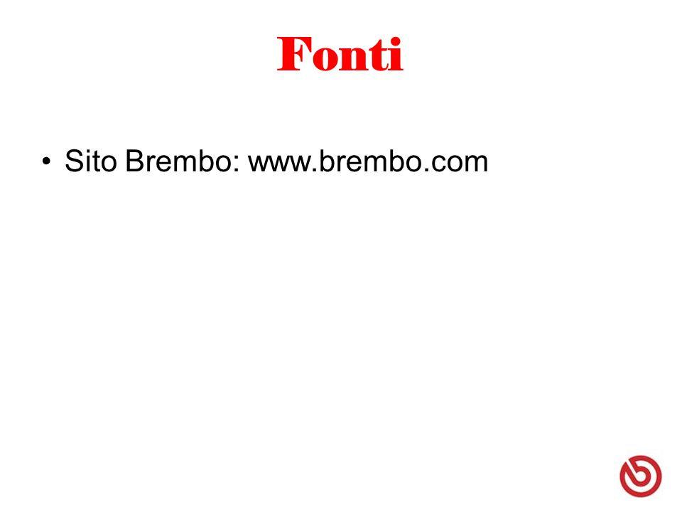 Fonti Sito Brembo: www.brembo.com
