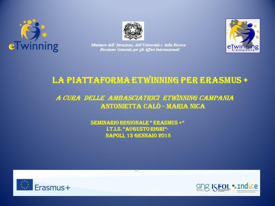Ministero dell' Istruzione, dell'Università e della Ricerca Direzione Generale per gli Affari Internazionali Seminario regionale Erasmus + I.T.I.S.