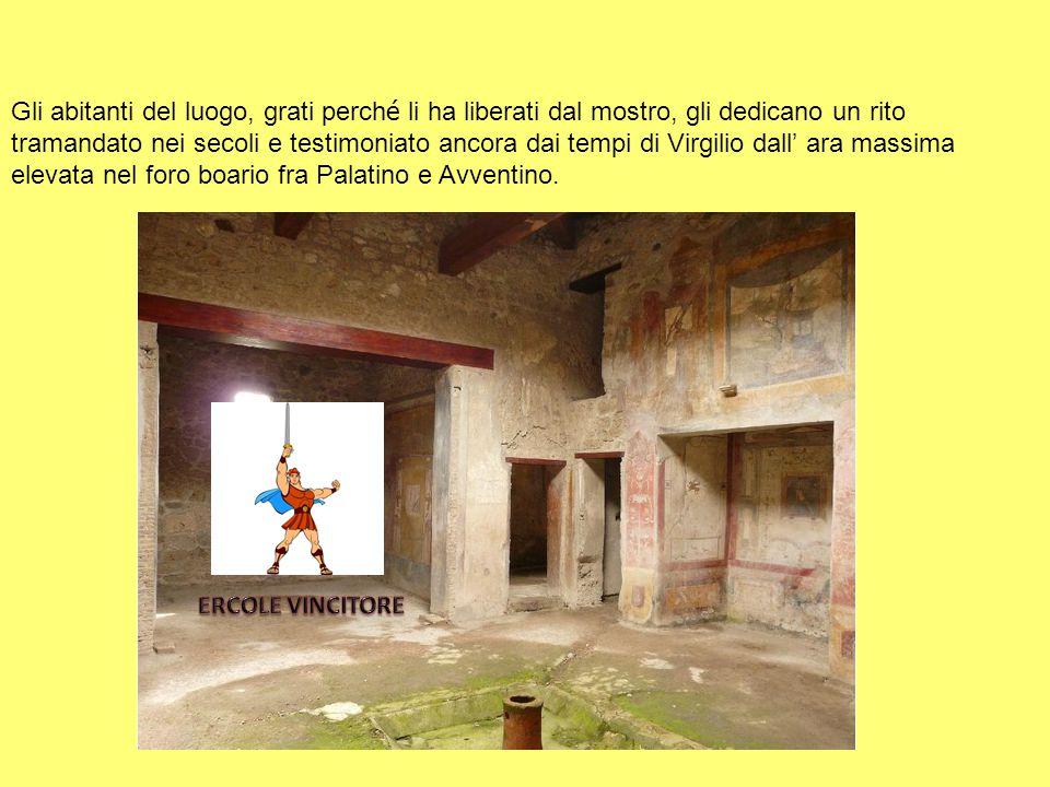 Gli abitanti del luogo, grati perch é li ha liberati dal mostro, gli dedicano un rito tramandato nei secoli e testimoniato ancora dai tempi di Virgili