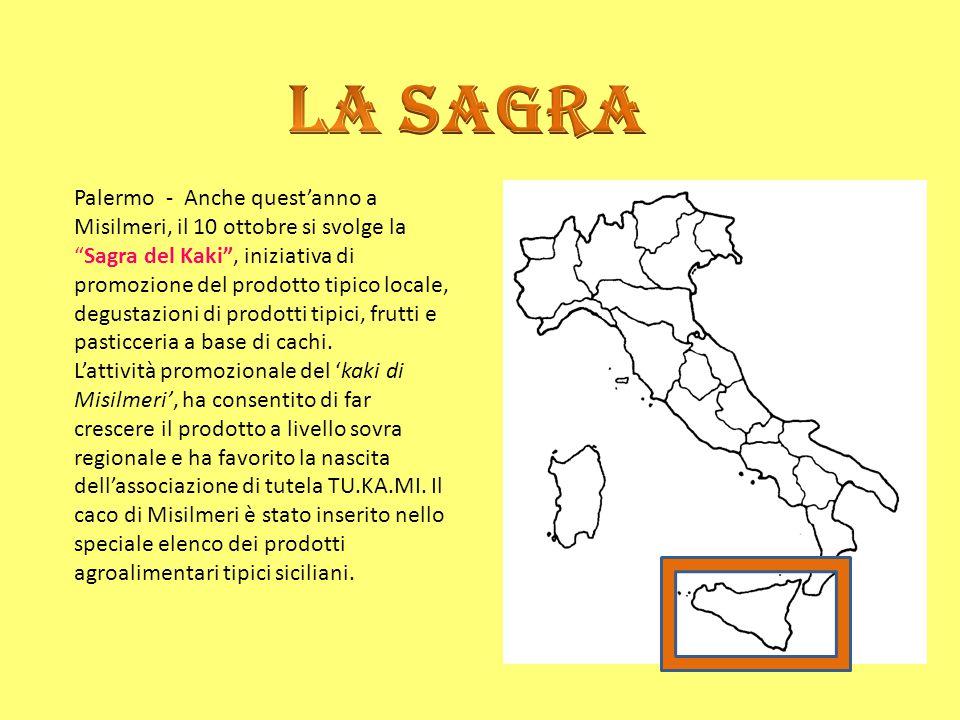 """Palermo - Anche quest'anno a Misilmeri, il 10 ottobre si svolge la """"Sagra del Kaki"""", iniziativa di promozione del prodotto tipico locale, degustazioni"""