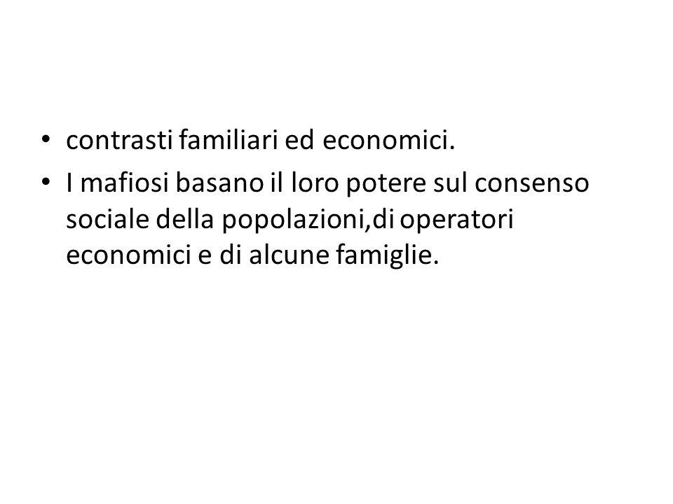 contrasti familiari ed economici.