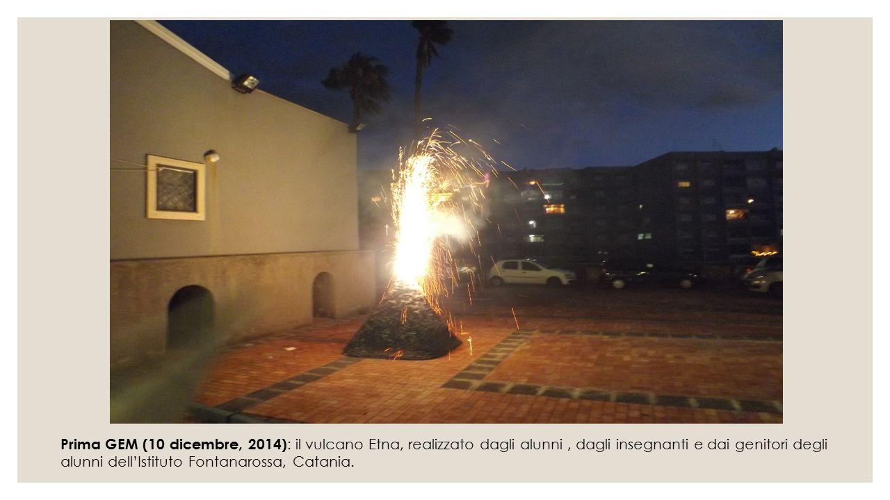 Prima GEM (10 dicembre, 2014) : il vulcano Etna, realizzato dagli alunni, dagli insegnanti e dai genitori degli alunni dell'Istituto Fontanarossa, Cat