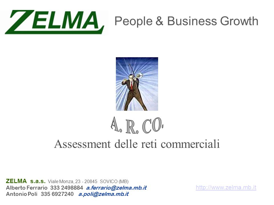 Assessment delle reti commerciali People & Business Growth ZELMA s.a.s.
