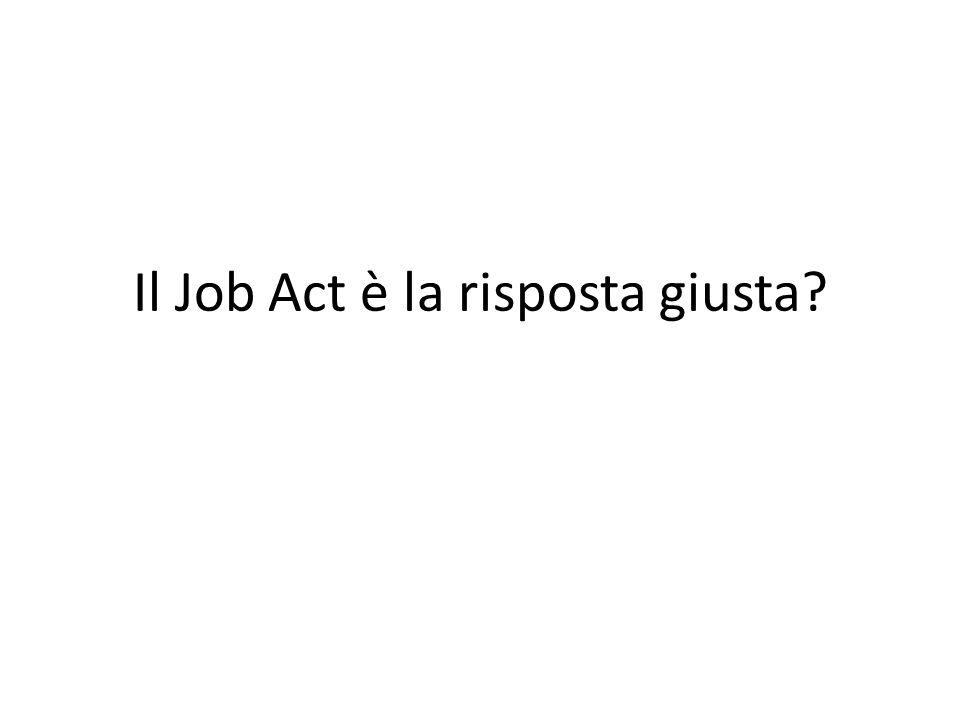 Il Job Act è la risposta giusta