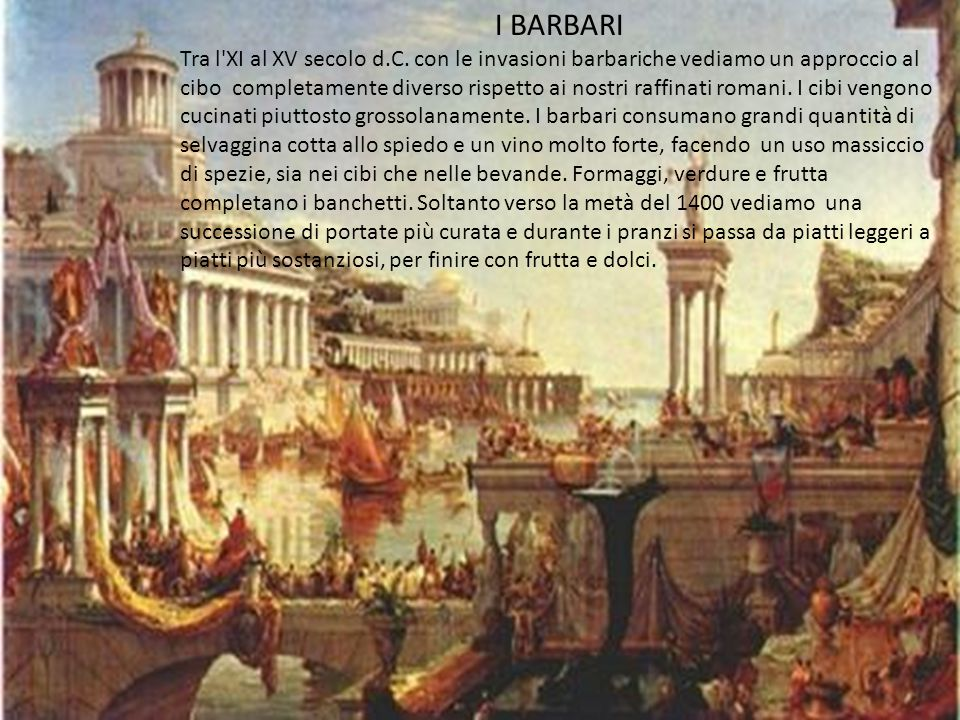 I BARBARI Tra l XI al XV secolo d.C.