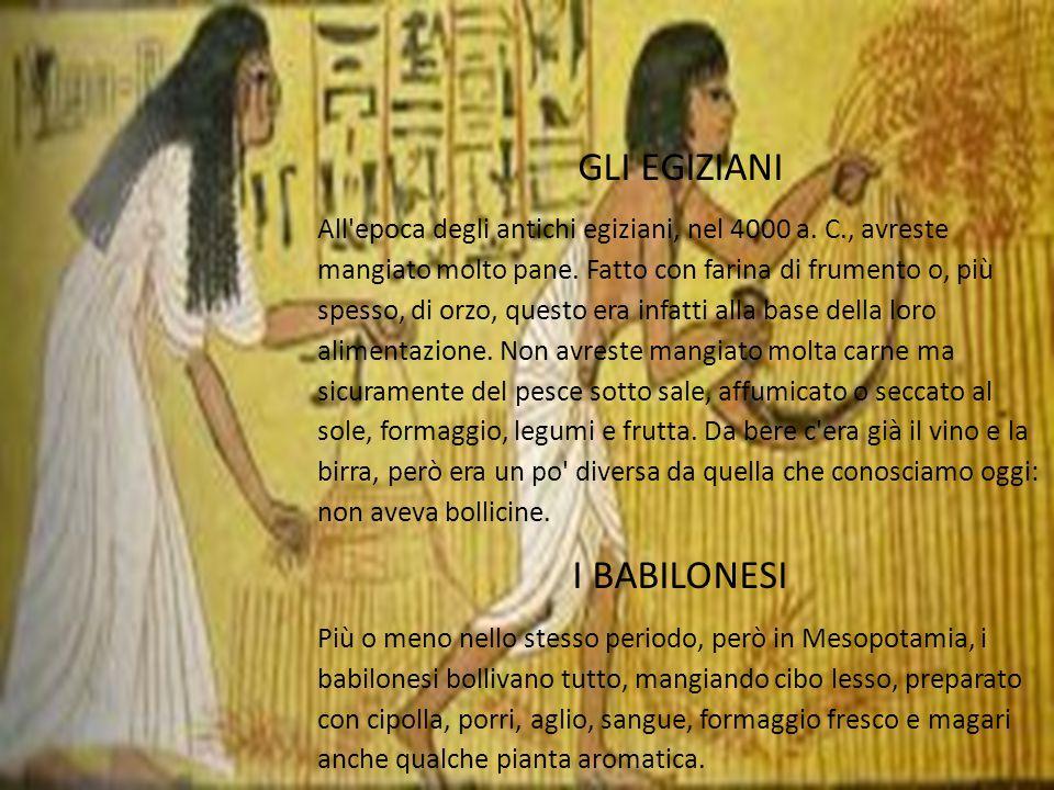GLI EGIZIANI All epoca degli antichi egiziani, nel 4000 a.