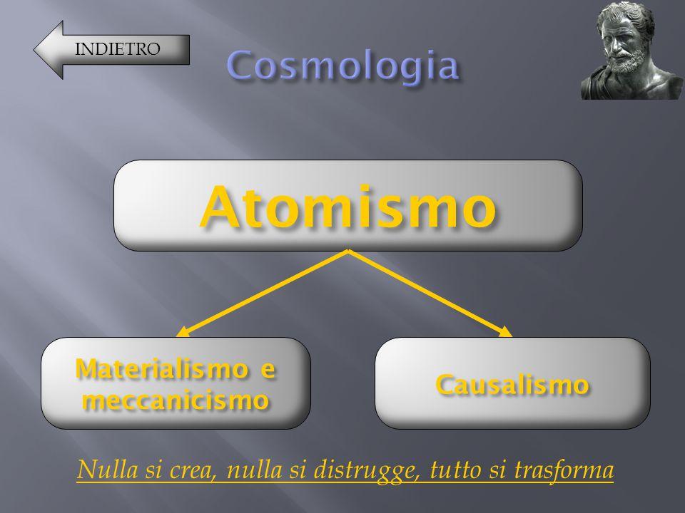 INDIETRO Atomismo MMMM aaaa tttt eeee rrrr iiii aaaa llll iiii ssss mmmm oooo e e e e mmmm eeee cccc cccc aaaa nnnn iiii cccc iiii ssss mmmm oooo Caus