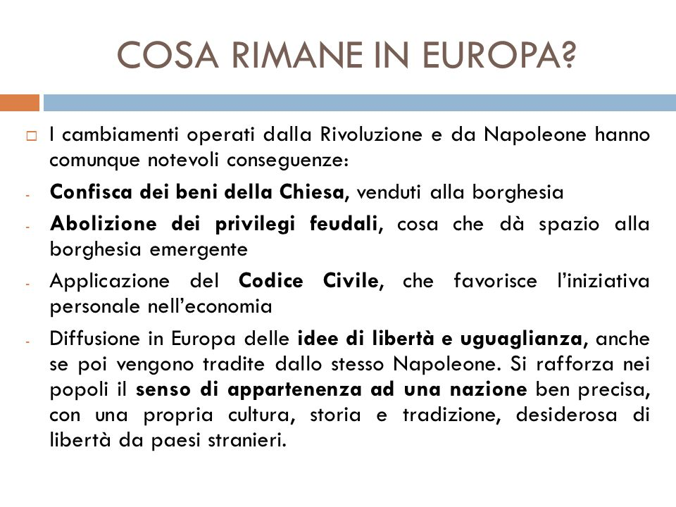 COSA RIMANE IN EUROPA.