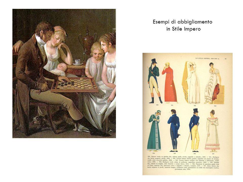 Esempi di abbigliamento in Stile Impero