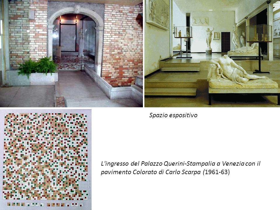 L'ingresso del Palazzo Querini-Stampalia a Venezia con il pavimento Colorato di Carlo Scarpa (1961-63) Spazio espositivo