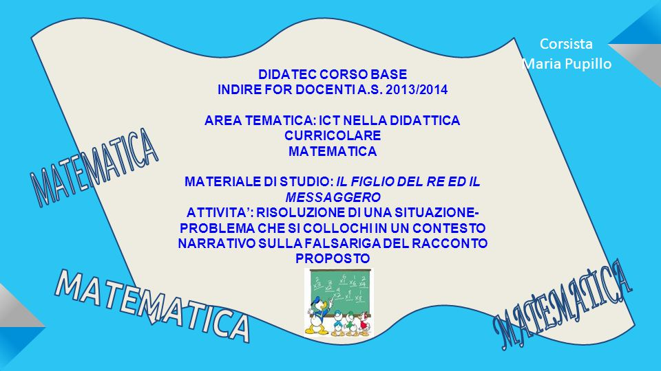 DIDATEC CORSO BASE INDIRE FOR DOCENTI A.S.