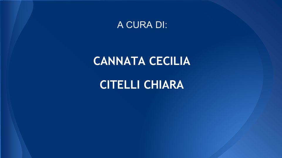 CANNATA CECILIA CITELLI CHIARA A CURA DI: