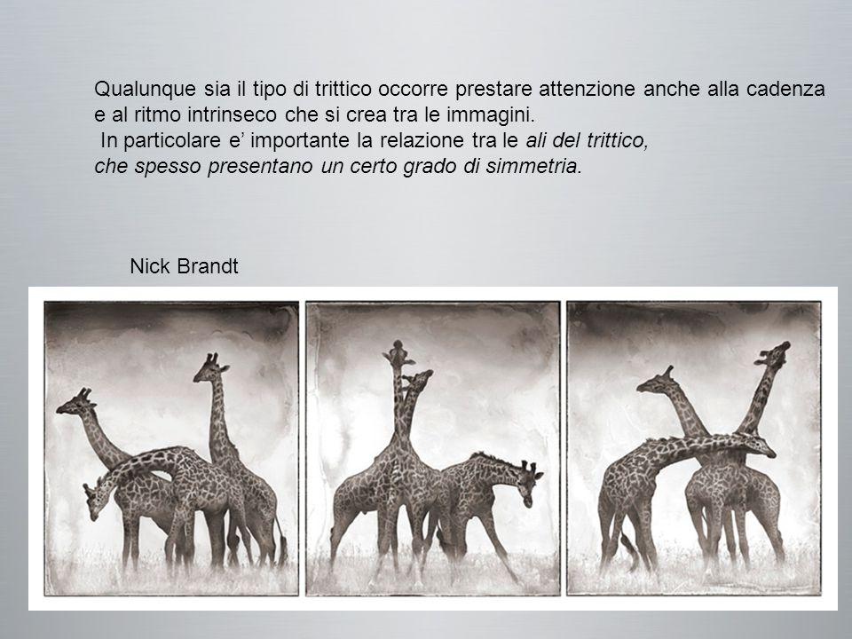 Nick Brandt Qualunque sia il tipo di trittico occorre prestare attenzione anche alla cadenza e al ritmo intrinseco che si crea tra le immagini.