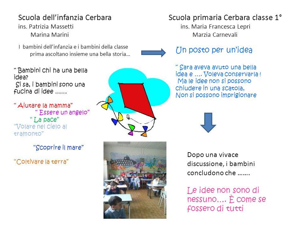 Scuola dell'infanzia Cerbara Scuola primaria Cerbara classe 1° ins. Patrizia Massetti ins. Maria Francesca Lepri Marina Marini Marzia Carnevali I bamb