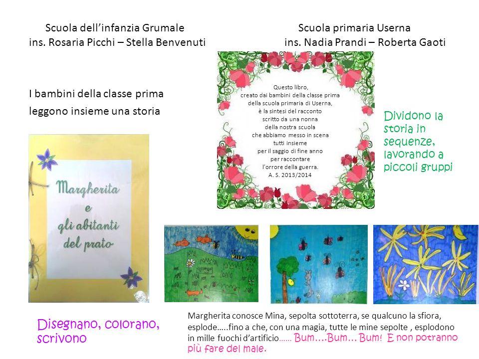 Scuola dell'infanzia Grumale Scuola primaria Userna ins. Rosaria Picchi – Stella Benvenuti ins. Nadia Prandi – Roberta Gaoti I bambini della classe pr
