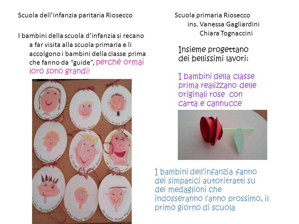 Scuola dell'infanzia paritaria Riosecco Scuola primaria Riosecco ins. Vanessa Gagliardini Chiara Tognaccini I bambini della scuola d'infanzia si recan